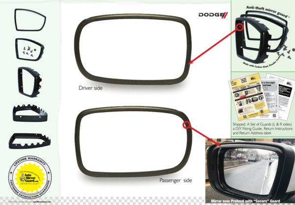CHARGER 5465G mirror guard
